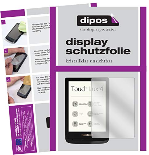 dipos I 2x Screen Protector compatible with PocketBook Touch Lux 4 Protection Films clear from dipos