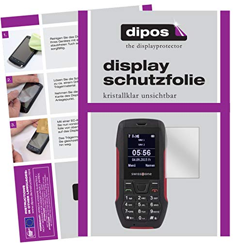 dipos I 2x Screen Protector compatible with Swisstone SX 567 Protection Films clear from dipos