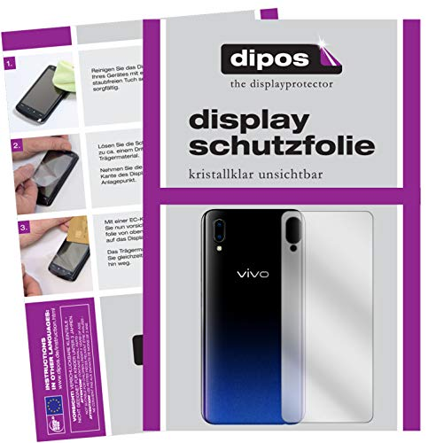 dipos I 2x Screen Protector compatible with Vivo Y91 back Protection Films clear from dipos