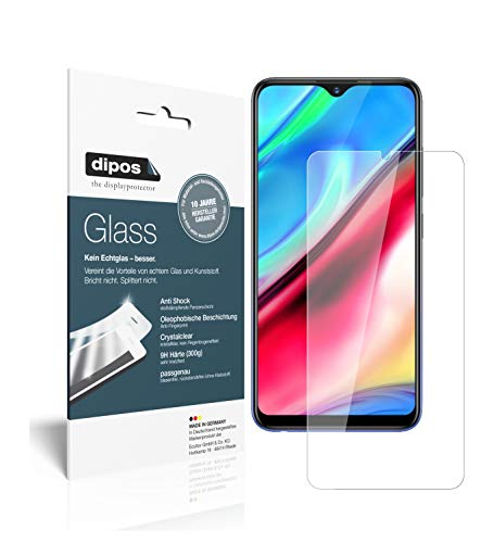 dipos I 2x Screen Protector compatible with Vivo Y93s Flexible Glass 9H Display Protection (1x front + 1x back) from dipos