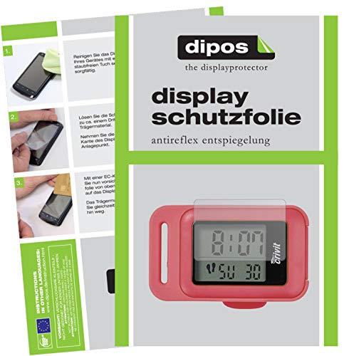 dipos I 2x Screen Protector matte compatible with CRIVIT Schrittzähler Protection Films from dipos