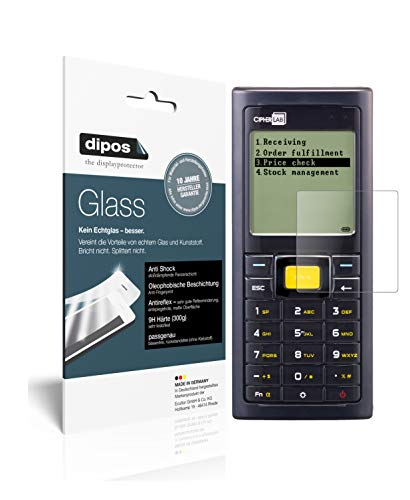 dipos I 2x Screen Protector matte compatible with Cipherlab 8230 Flexible Glass 9H Display Protection from dipos