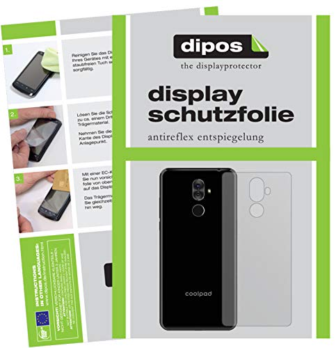 dipos I 2x Screen Protector matte compatible with Coolpad Note 8 back Protection Films from dipos