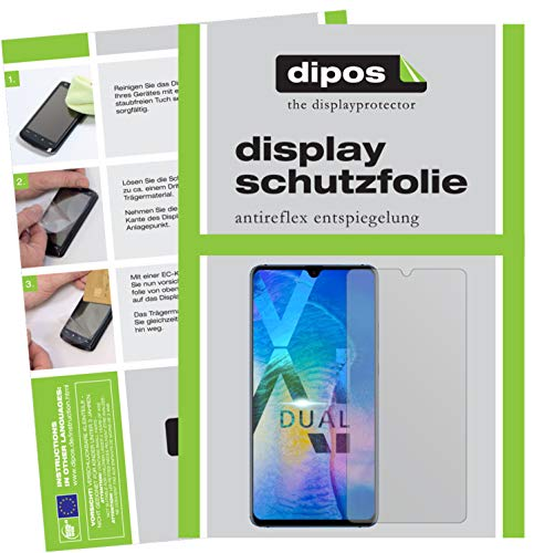 dipos I 2x Screen Protector matte compatible with Huawei Mate 20 X Protection Films from dipos
