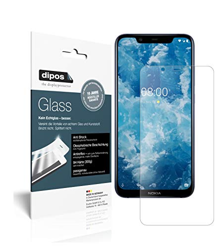 dipos I 2x Screen Protector matte compatible with Nokia 8.1 Flexible Glass 9H Display Protection from dipos
