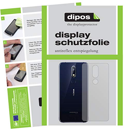 dipos I 2x Screen Protector matte compatible with Nokia X7 (2018) back Protection Films from dipos