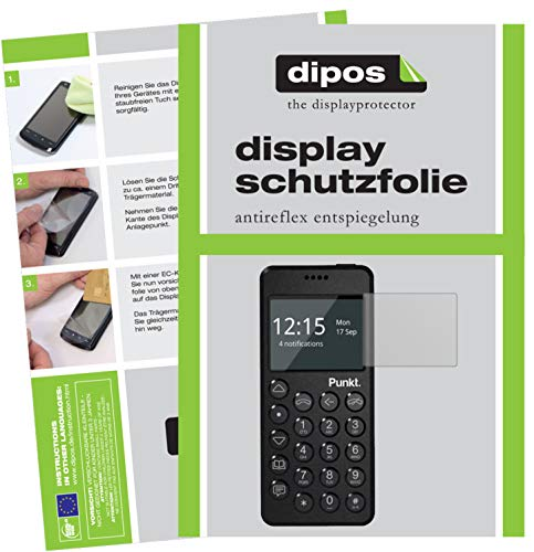 dipos I 2x Screen Protector matte compatible with Punkt MP02 Protection Films from dipos