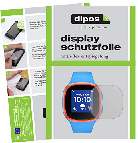 dipos I 2x Screen Protector matte compatible with Vodafone V-Kids Watch Protection Films from dipos