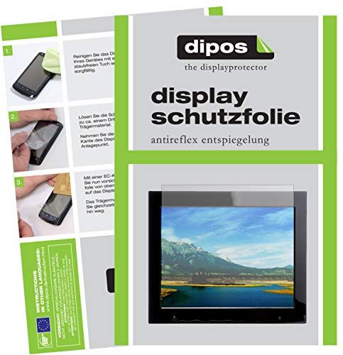 dipos I 2x Screen Protector matte compatible with Xoro DPF 15B1 Protection Films from dipos