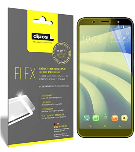 dipos I 3x Screen Protector compatible with HTC U12 Life - Covers Screen 100% - Protective Film from dipos