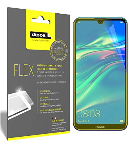 dipos I 3x Screen Protector compatible with Huawei Y7 Pro (2019) - Covers Screen 100% - Protective Film from dipos