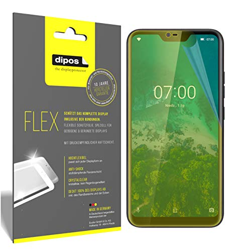 dipos I 3x Screen Protector compatible with Kruger Matz Smartfon LIVE 7 - Covers Screen 100% - Protective Film from dipos