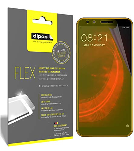 dipos I 3x Screen Protector compatible with Nubia N2 Lite - Covers Screen 100% - Protective Film from dipos