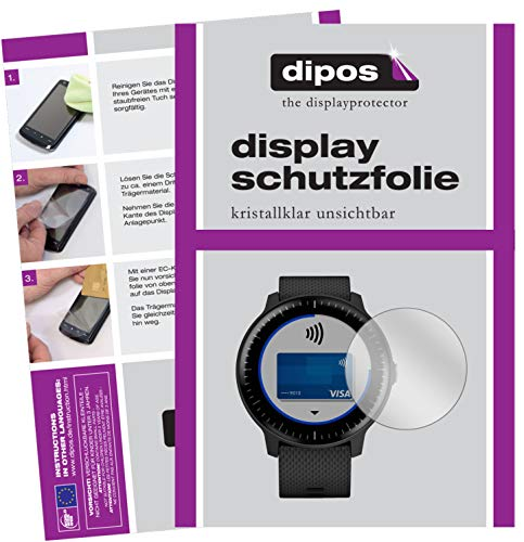 dipos I 6x Screen Protector compatible with Garmin Vivoactive 3 Music Protection Films clear from dipos