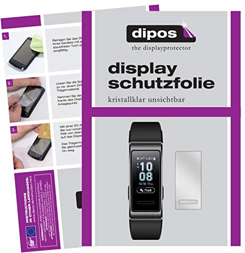 dipos I 6x Screen Protector compatible with Huawei Band 3 Pro Protection Films clear from dipos