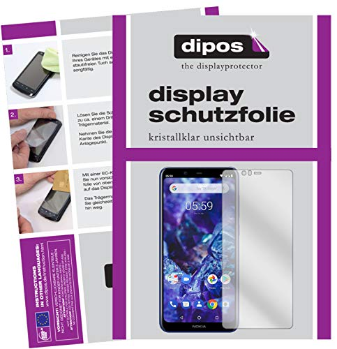 dipos I 6x Screen Protector compatible with Nokia 5.1 Plus Protection Films clear (3x front + 3x back) from dipos