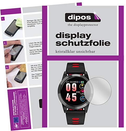 dipos I 6x Screen Protector compatible with OOOUSE R15 Smartwatch Protection Films clear from dipos