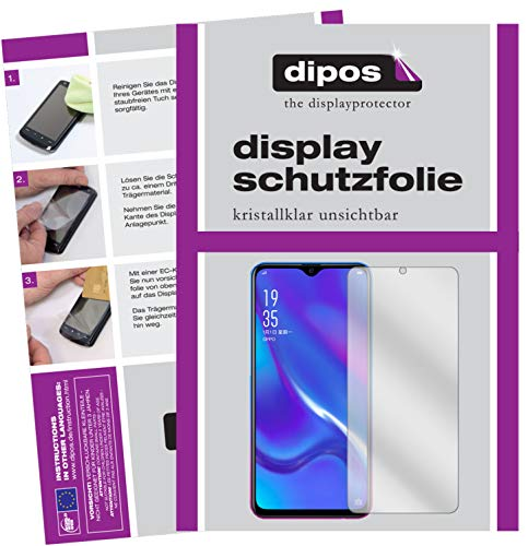 dipos I 6x Screen Protector compatible with Oppo K1 Protection Films clear from dipos