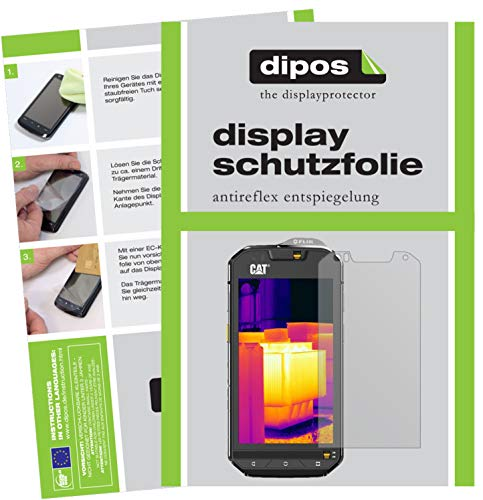 dipos I 6x Screen Protector matte compatible with Caterpillar CAT S60 Protection Films from dipos