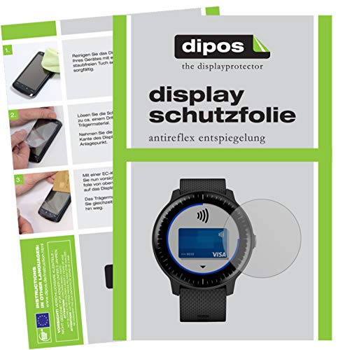 dipos I 6x Screen Protector matte compatible with Garmin Vivoactive 3 Music Protection Films from dipos
