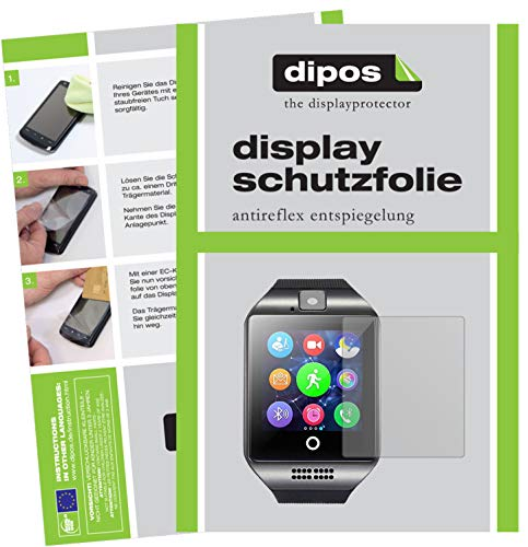 dipos I 6x Screen Protector matte compatible with InterActive SmartWatch Q18 Protection Films from dipos