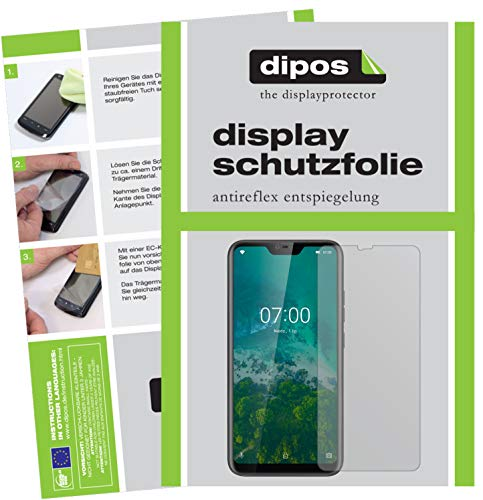 dipos I 6x Screen Protector matte compatible with Kruger Matz Smartfon LIVE 7 Protection Films from dipos