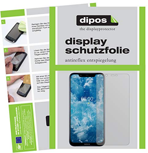 dipos I 6x Screen Protector matte compatible with Nokia 8.1 Protection Films from dipos