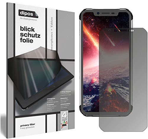 dipos I Privacy Filter for Blackview BV9600 Pro Screen Protector Anti-Spy 4-Way Protection from dipos