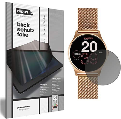 dipos I Privacy Filter compatible with Joli XW Pro Smartwatch Screen Protector Anti-Spy 4-Way Protection from dipos