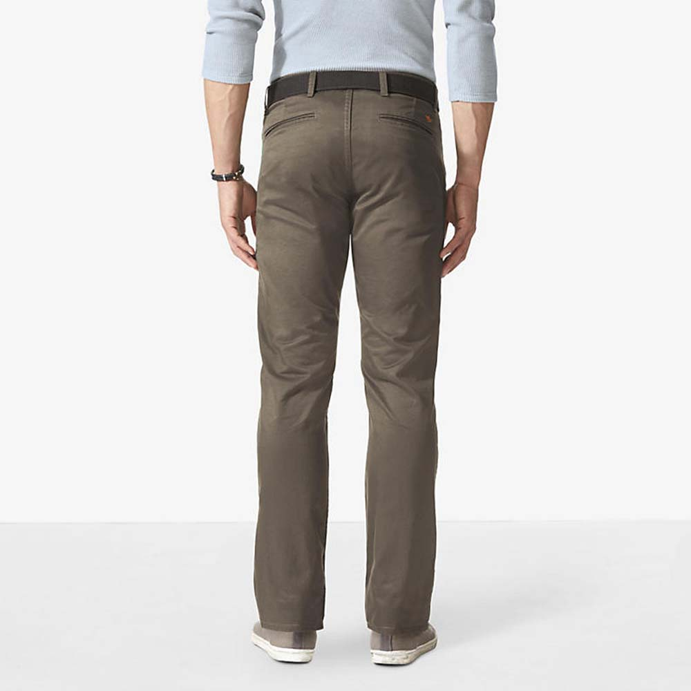 Dockers Alpha Khaki Slim Fit 34 Stretch Twill Dark Pebble from Dockers