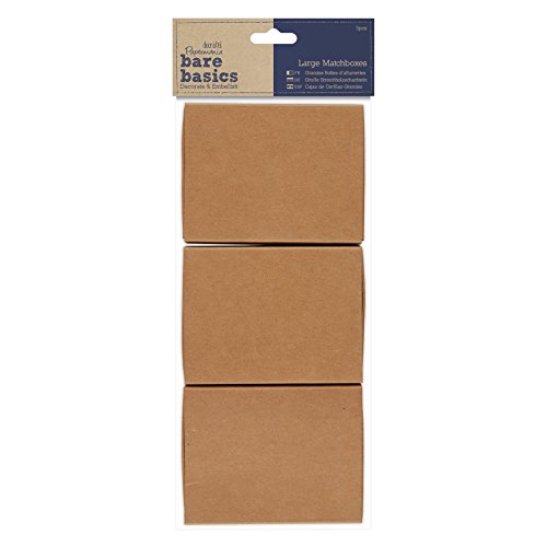 docrafts PMA174653 Papermania Bare Basics Matchboxes (3 Pack), Large, Brown from docrafts