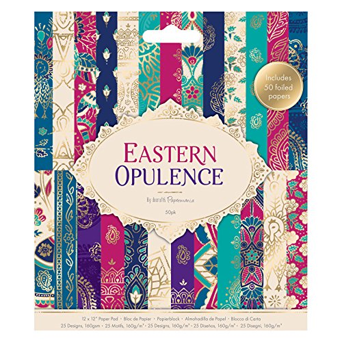 docrafts Eastern Opulence Pad, Paper, Magenta/Teal/Navy/Blue, 15.7 x 2 x 17.7 cm from docrafts