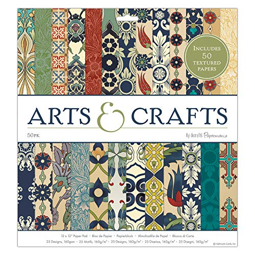 docrafts Papermania Arts and Crafts Pad, paper, Natural, 30.5 x 2 x 33 cm from docrafts