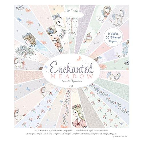 docrafts Papermania Enchanted Meadow Pad, paper, Candy Coloured Pastels, 15.7 x 2 x 17.7 cm from docrafts