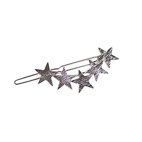 dontdo Fashion Alloy Five-pointed Star Hairpin Hair Clip Women Girl Accessories Headdress from dontdo
