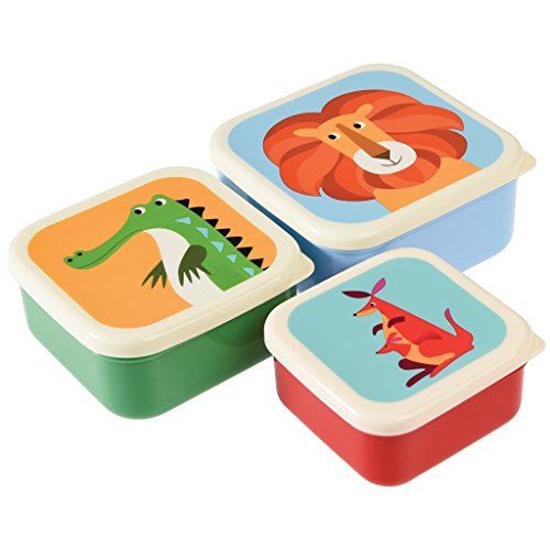 Set Of 3 Snack Boxes (Colourful Creatures) from dotcomgiftshop