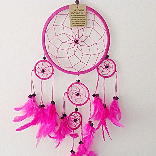 White Colour Suede Dream Catcher Beautiful Home Decor /& Kids Room Wall Hanging Party Bag Filler Item Catch All Those Bad Dreams No More Sleepless Nights