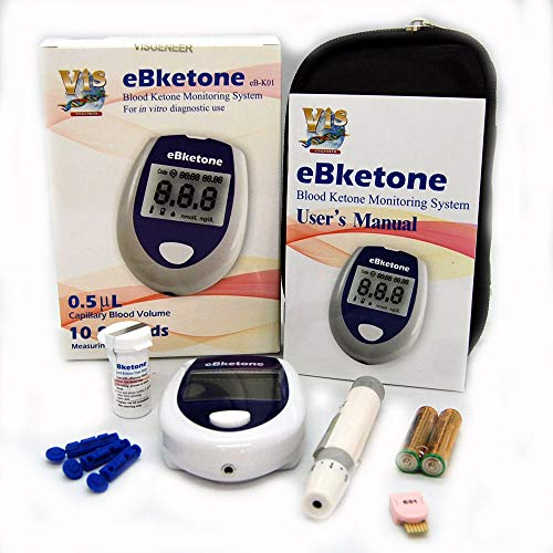 eBketone Blood Ketone Monitoring System + 10 Ketone strips from eBketone