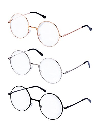 clothing eyewear accessories find offers online and pare Red and Blue Oakley Sunglasses metal frame round eyeglasses retro metal clear lens glasses unisex black gold