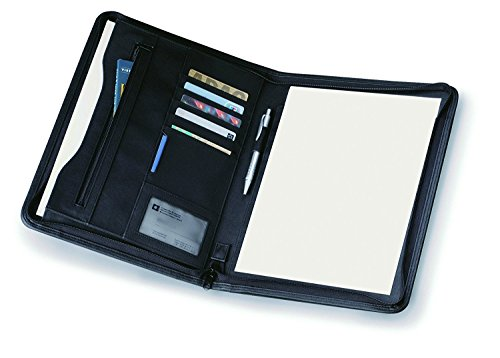eBuyGB A4 PU Faux Leather Zipped Conference Folder/Executive Portfolio, Black from eBuyGB