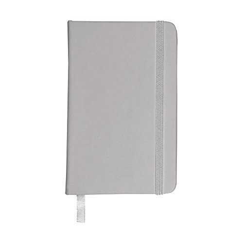 eBuyGB A6 Coloured Hardback Lined Paper Notebook, Silver from eBuyGB