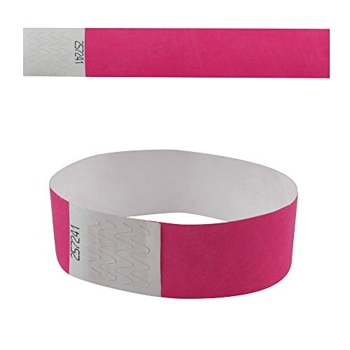 eBuyGB 13281 Plain Security Tyvek Paper Event Wrist Band for Festivals and Parties - Fuchsia (Pack of 50) from eBuyGB