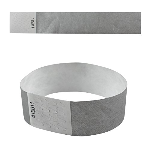 eBuyGB 13281 Plain Security Tyvek Paper Event Wrist Band for Festivals and Parties - Grey (Pack of 100) from eBuyGB