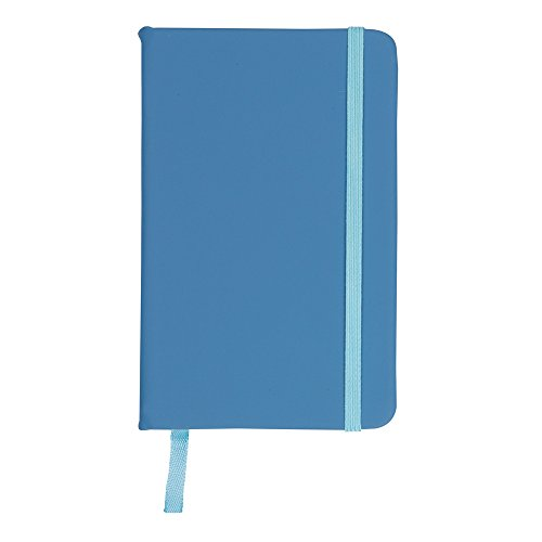 eBuyGB A4 Coloured Hardback Lined Paper Notebook, Light Blue, Pack of 1 from eBuyGB