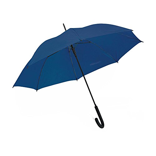"eBuyGB Automatic Windproof with Black Rubber Crook Handle Walking Rain Stick Umbrella, Blue, 40"" from eBuyGB"