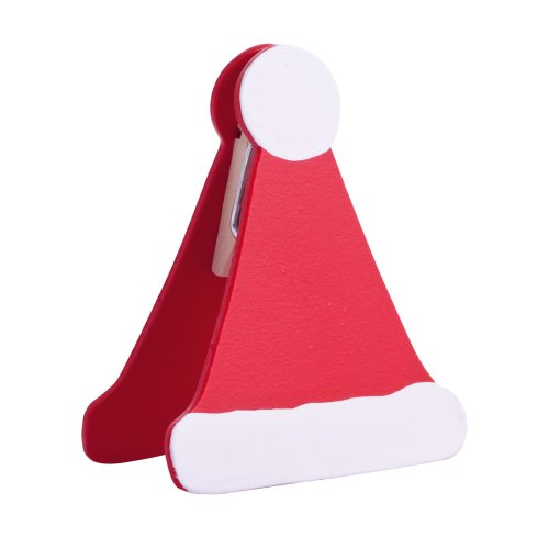 eBuyGB Christmas Santa Hat Card Name Holder, Wood, Multi-Colour, Pack of 10 from eBuyGB