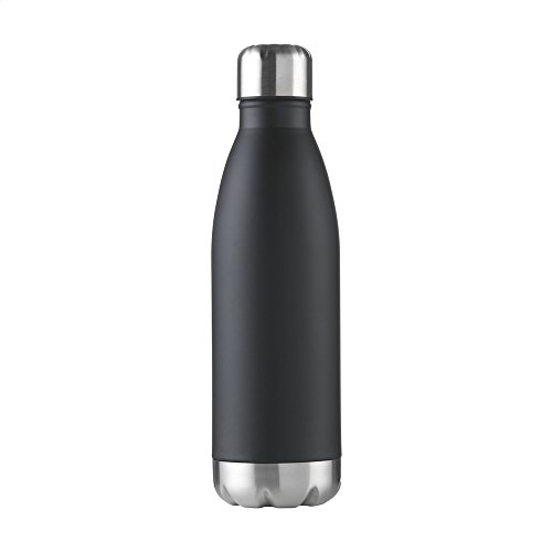 eBuyGB Unisex Adult Double Walled Metal Flask - Black, 500 ml from eBuyGB