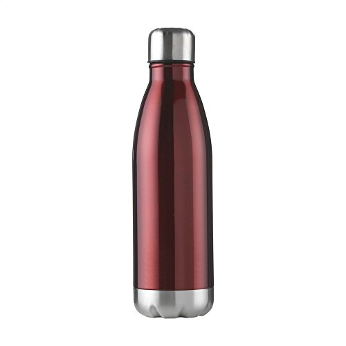 eBuyGB Unisex Adult Double Walled Metal Flask - Red, 500 ml from eBuyGB