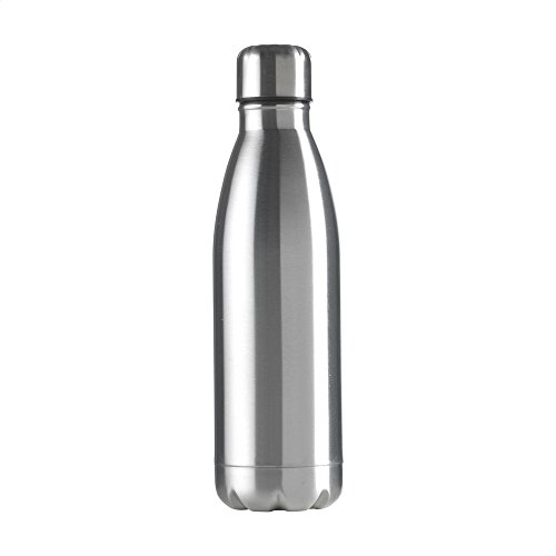 eBuyGB Unisex Adult Double Walled Metal Flask - Silver, 500 ml from eBuyGB