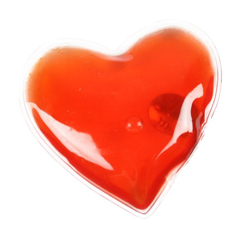 eBuyGB Pack of 2 Instant Heating Hand Warmers, Transparent Red Heart from eBuyGB